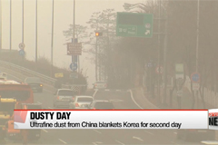 Ultrafine dust from China blankets Korea for second day
