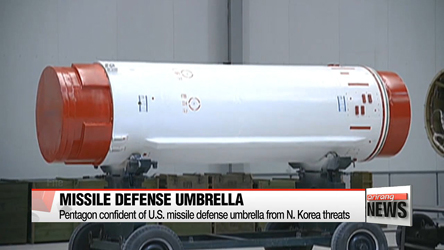 Pentagon confident of U.S. missile defense umbrella from N. Korea threats