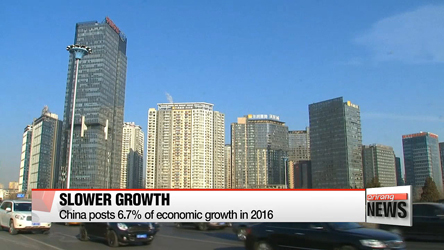 China posts 6.7% economic growth in 2016