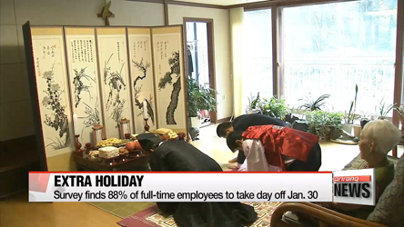 Average full-time worker to spend 535,000 won on Seollal expenses