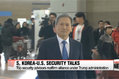 Top security advisers of S. Korea, U.S. reaffirm alliance after Trump administration kicks in