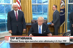President Trump signs executive order withdrawing U.S. from TPP