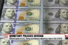Central banks carry out differing monetary policies