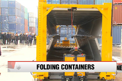Korea develops foldable shipping containers