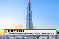 Lotte Group wins approval to open 123-story Lotte World Tower in southern Seoul