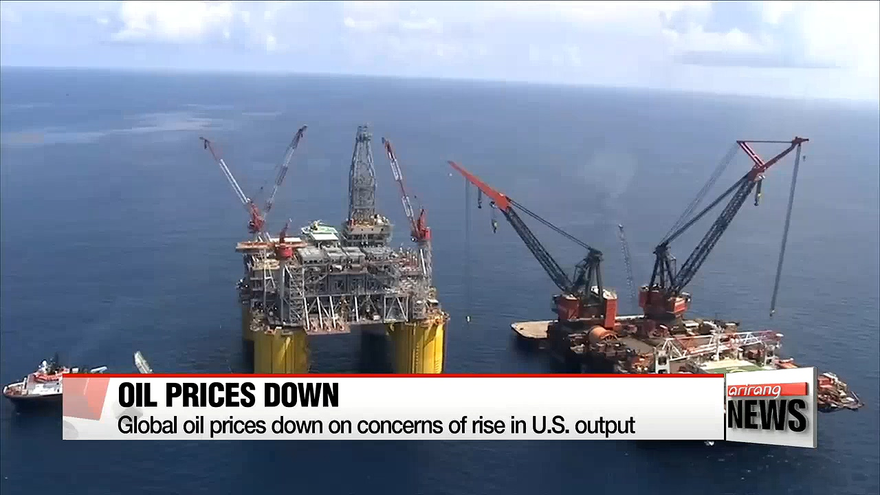 Global oil prices down on concerns of rise in U.S. output
