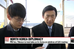FM Yun, Tillerson to hold talks on N. Korea on sidelines of G20 meeting
