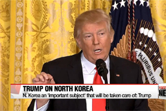 N. Korea an 'important subject' that will be taken care of: Trump
