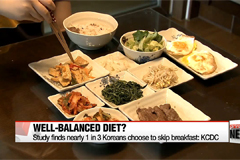 Study finds nearly 1 in 3 Koreans choose to skip breakfast