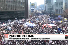 Tens of thousands gather for anti-Park protest in central Seoul