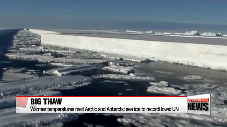 Warmer temperatures melt Arctic and Antarctic sea ice to record lows: UN