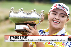 Jang ha-na wins LPGA tour Australian open