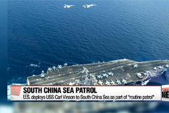 U.S. deploys aircraft carrier to South China Sea