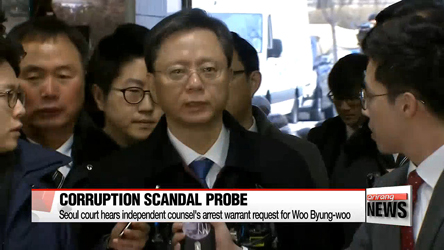 Court hears independent counsel's arrest warrant request for Woo Byung-woo
