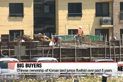 Chinese ownership of Korean land jumps fivefold over past 5 years