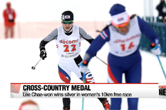 Cross-country skier Lee Chae-won wins silver medal