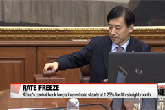 Korea's central bank keeps interest rate steady at 1.25% for 8th straight month