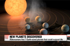 Seven earth-sized planets that could harbor life discovered