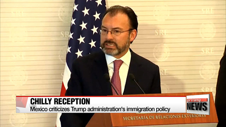 Mexico criticizes Trump administration's immigration policy