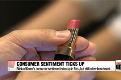 Bank of Korea's consumer sentiment index up in Feb., but still below benchmark