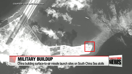 China building surface-to-air missile launch sites on South China Sea atolls