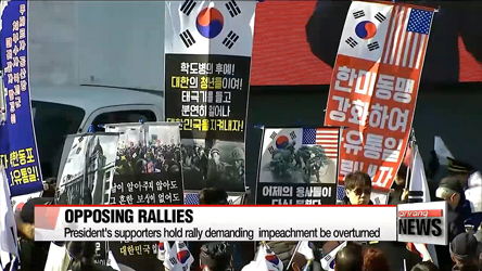 Rallies for and against President Park's impeachment held in Seoul