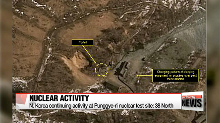 N. Korea continuing activity at Punggye-ri nuclear test site: 38 North