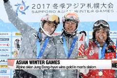 South Korea scoops more medals at Asian Winter Games