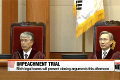 Constitutional Court prepares for closing arguments in impeachment trial