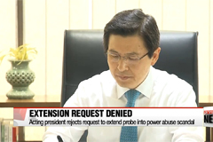 Acting president rejects request to extend probe into power abuse scandal