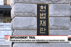 Constitutional Court justices start deliberations on impeachment motion