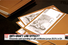 Anti-graft law sees jump in corporate card spending on gift certificates