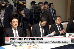 Korea's economy-related ministries monitoring impact of Fed's rate hike decision
