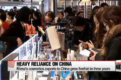 Korea's cosmetics exports to China grew fivefold in three years