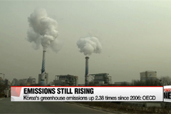 Korea's greenhouse emissions up 2.38 times since 2006: OECD