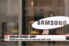 Korean shares jump on Samsung rally