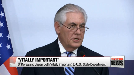 S. Korea and Japan both 'vitally important' to U.S.: State Department