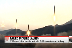 N. Korea's latest missile test fails: S. Korean defense ministry