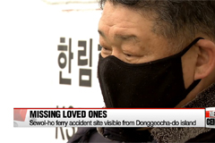 Families of Sewol-ho ferry disaster victims waiting for missing bodies on Donggeochado