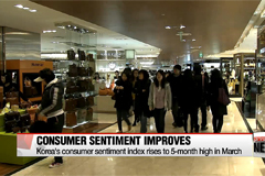 Korea's consumer sentiment index rises to 5-month high in March