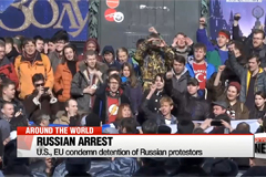 Western nations condemn arrest of Russian protestors, opposition leader