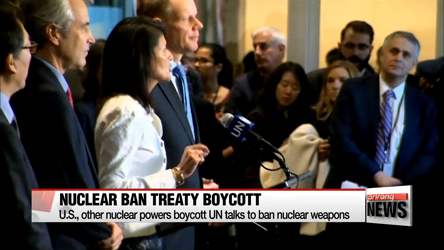 U.S., other nuclear powers boycott UN talks to ban nuclear weapons