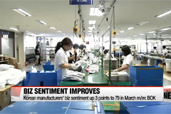 Korean manufacturers' biz sentiment improves for third straight month in March