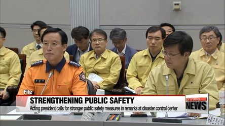 Acting president calls for stronger public safety measures