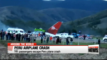 Passengers unharmed after Peru plane crash