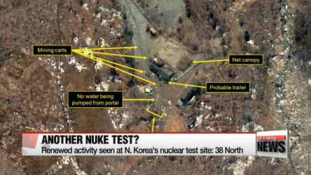 Activity seen at N. Korea's nuclear test site: 38 North