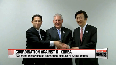 S. Korea, U.S., Japan to meet for talks in NY