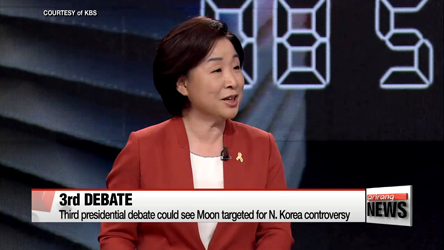 S. Korean Presidential candidates hold 3rd TV debate