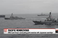 USS Carl Vinson kicks off joint-exercise with Japanese warships