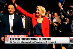 Le Pen and Macron set for French run-off on May 7